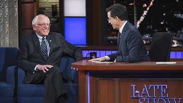 Photos Of Bernie Sanders And More On The Late Show