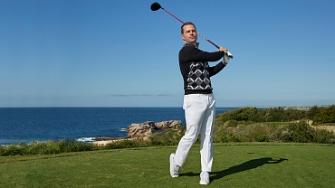 NCIS: Los Angeles\' Chris O\'Donnell Tees Up For A Playful Photo Shoot