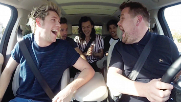 17 Photos Of One Direction Having A Blast With James Corden