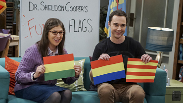 Amy And Sheldon Take Fun With Flags On-Location On The Big Bang Theory