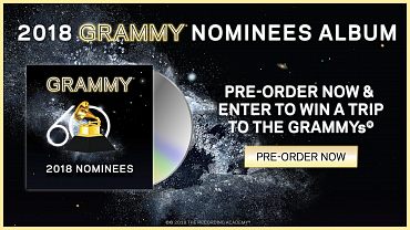 Pre-Order Your Copy Of The 2018 GRAMMY Nominees Album