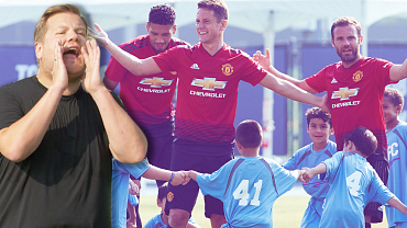 Manchester United Versus James Corden And 100 Kids