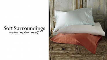Soft Surroundings $110 Gift Card & Silk Pillowcase