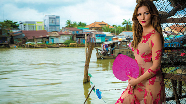 Katharine McPhee And Elyes Gabel Explore Southeast Asia