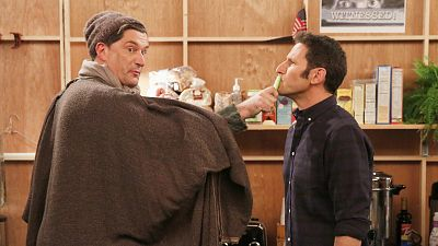 Mark Feuerstein And Michael Showalter Have A Wet Hot Reunion On 9JKL