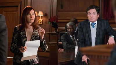 A Toast From The Good Wife's 2016 Emmy Nominees, Carrie Preston And Michael J. Fox
