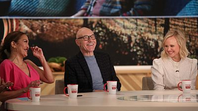 Patrick Stewart Cleverly Avoids Choosing Alien Favorites In A Cheeky Game On The Talk