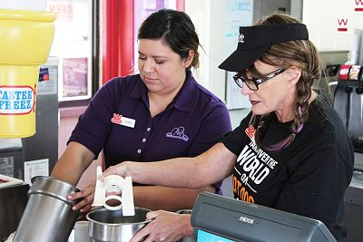 First Look: Cynthia Galardi-Culpepper Goes Undercover At Wienerschnitzel