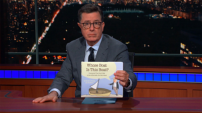 Colbert Announces Hurricane Florence Book By Donald J. Trump (By Accident)