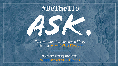Join The Movement To #BeThe1To Prevent Suicide