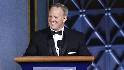 Sean Spicer Makes A Surprise Appearance During The 69th Emmy Awards