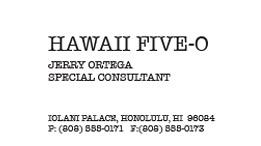 Inside look at hawaii five 0s ua ooloku ke anu i na mauna look who has a new business card reheart Image collections
