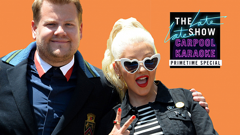 James Corden And Christina Aguilera Sing Their Way Into Carpool Karaoke Special