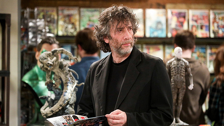 It's A Fantasy Come True! Get A Peek At Neil Gaiman On The Big Bang Theory